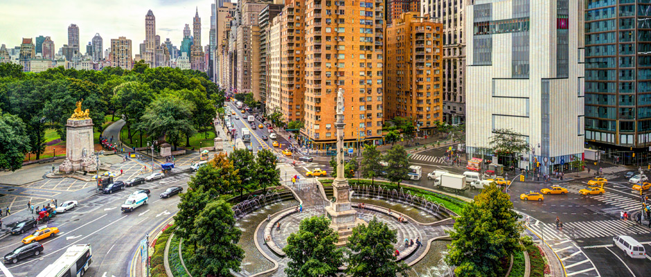 photo of Columbus Circle office buildings